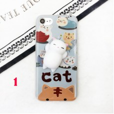 3D Squishy Cute Cat's Paw Soft Silicone Phone Decompression Case Cover For iPhone 7/6
